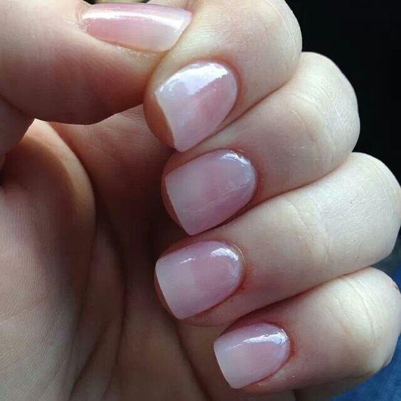 Natural pink nails. Cute cute cute