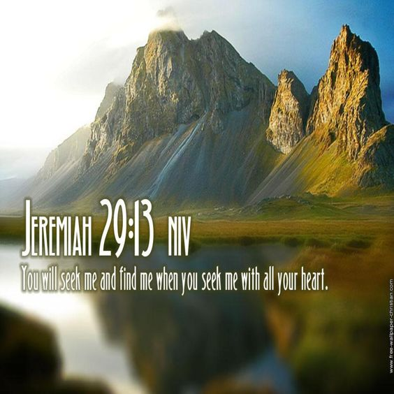 Jerimiah 29:13
