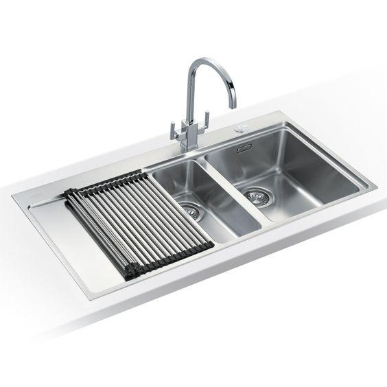 Franke MYTHOS SLIM-TOP MMX251 LHD - Mythos Slim-Top 1.5 Bowl Sink Left Hand Drainer | Appliance City
