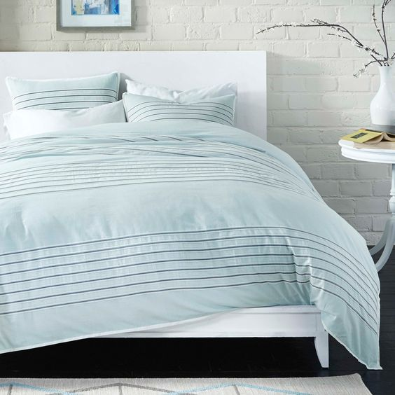 Spa Stripe Mini Comforter Set by Bedwear Live Comfy | from hayneedle.com