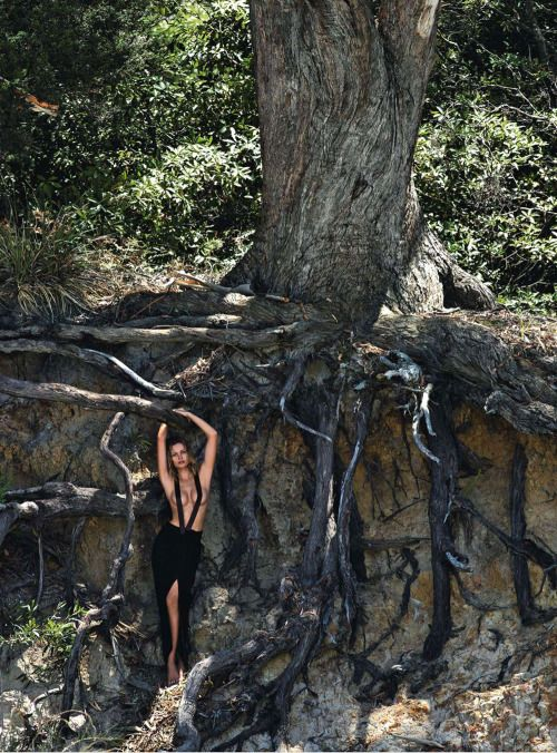 Edita Vilkeviciute wearing Givenchy | Phtography by Gilles Bensimon | For Vogue Magazine Australia | June 2014