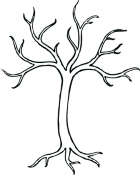 Clip Art Tree Trunk Clipart tree trunk clipart pattern with six branches and leafless drawings clip art