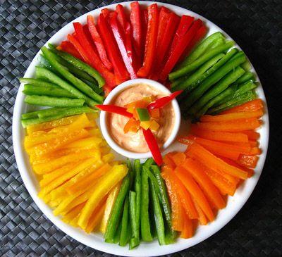 Crudité de varias verduras: