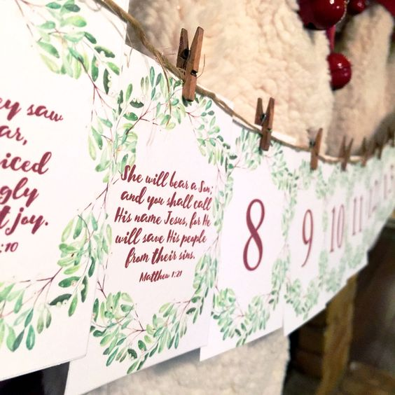 christmas bible verses calligraphy christmas advent advent calendar ...