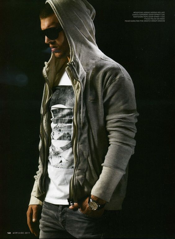 Men`s Outfit, Fashion, Hoody, Jeans, Shirt, Sunglasses // great casual outfit or maybe just to look hip, trendy and urban