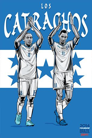 World Cup 2014 Posters: HONDURAS [ ProTuffDecals.com ] #posters #decal #sports