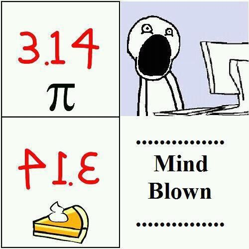 Happy Pi Day for the math lovers and Happy Pie Day for the food lovers :)
