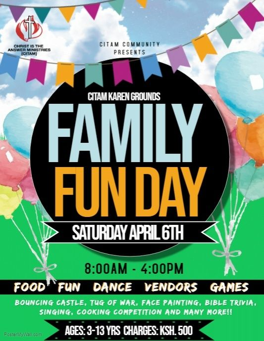Copy Of Family Fun Day Family Fun Day Family Fun Family Poster
