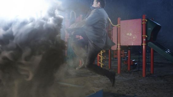 Adam W #VFX ‏@adamwvfx  Apr 2 Sometimes you have to take a leap of faith..  3D by Mladen M Composited by Kevin G #Supernatural #S10E17 #VFX pic.twitter.com/8GfTkAY1ZQ