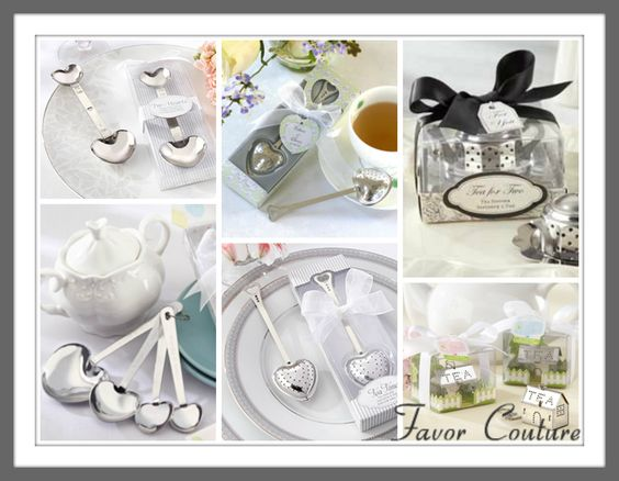 Tea Themed Wedding Favors - Bridal / Baby Shower Favor Ideas.    Begin with a theme and everything else will fall into place.