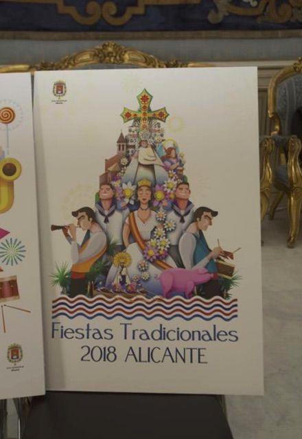 Fiestas Tradicionales Alicante 2018: D. Juan Diego Ingelmo Benavente, con el lema 'A'.