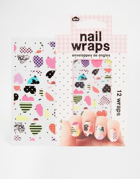 Image 1 of Heart Nail Wraps