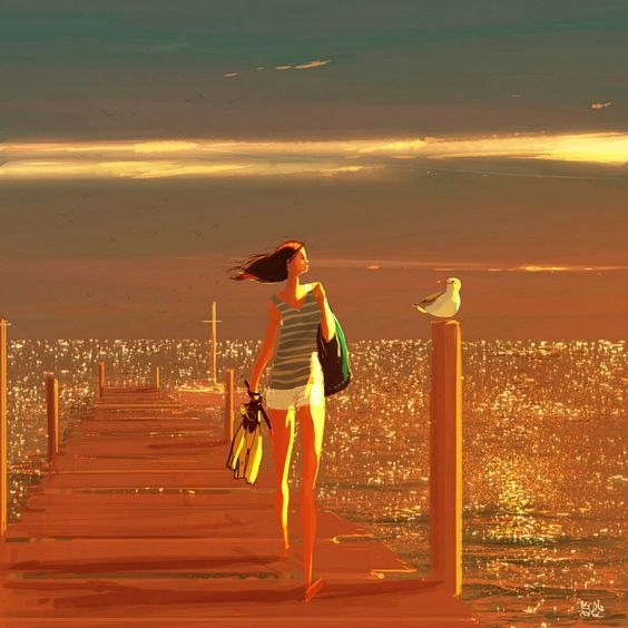 with the golden waves! #pascal Campion