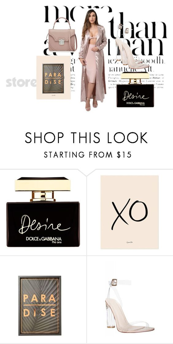 """Nude is sexy"" by novicci ❤ liked on Polyvore featuring Dolce&Gabbana, xO Design and Alexander McQueen"