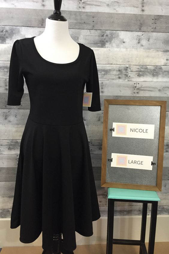 Nicole p black dress