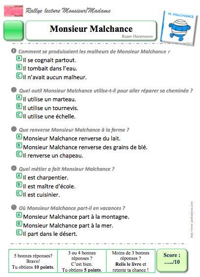 Rallye lecture monsieur et madame - Effroyables jardins questionnaire de lecture ...
