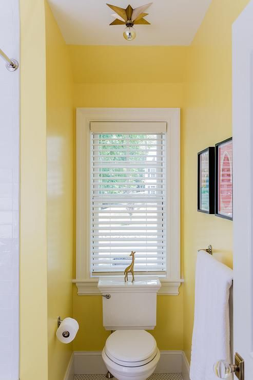 Eric Cohler Star Flush Mount Lighting A Yellow Kids Bathroom Toilet Nook Showcasing A Bathroom Light Fixtures Modern Bathroom Light Fixtures Bathroom Lighting