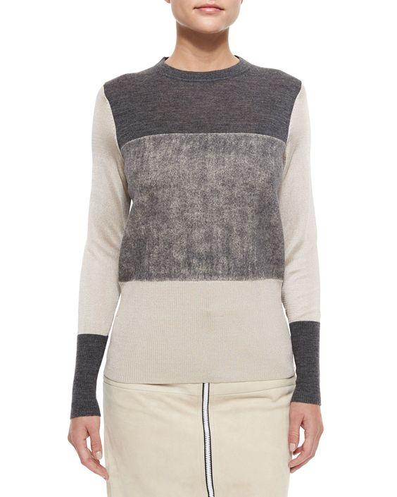 Rag & Bone Marissa Colorblock Knit Sweater, Size: MEDIUM