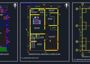 House Submission Dwg 30 X60 Residential Building Autocad Dwg Plan N Design In 2020 Floor Layout Architectural House Plans House Layout Plans