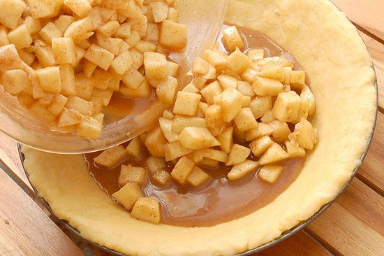 How to Bake an Apple Pie from Scratch: 19 Steps (with Pictures)--ignore the lard crust, the filling is what I am going for. Follow the steps but use the How to Make the Perfect Pie Crust recipe pin for the dough.