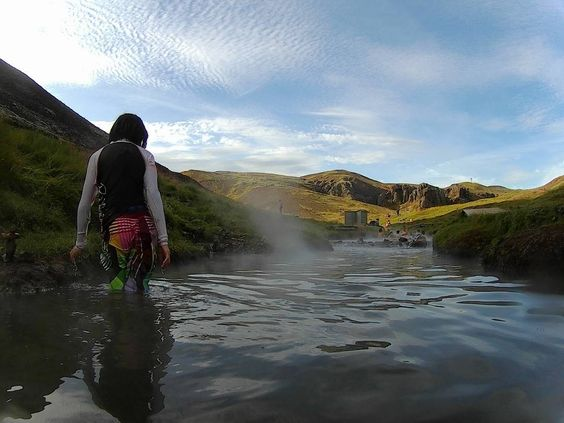 Not too long ago in #Iceland... After an hour #hike we reached the best reward our tired feet could ask for. #Reykjadalur #River! This is a #natural hot spring river! What better way to revive your sore muscles than in a hot spring river? Do bring your bathing suits and towels. Bashful folks beware! There are only 'T' shaped places to change and nothing else. Bring food and water as well as there is nothing up there (please pickup after yourself). You'll need some energy to get back…