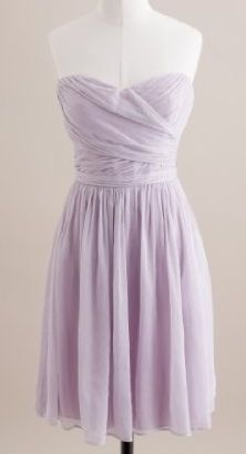 bridesmaid dress in lavender