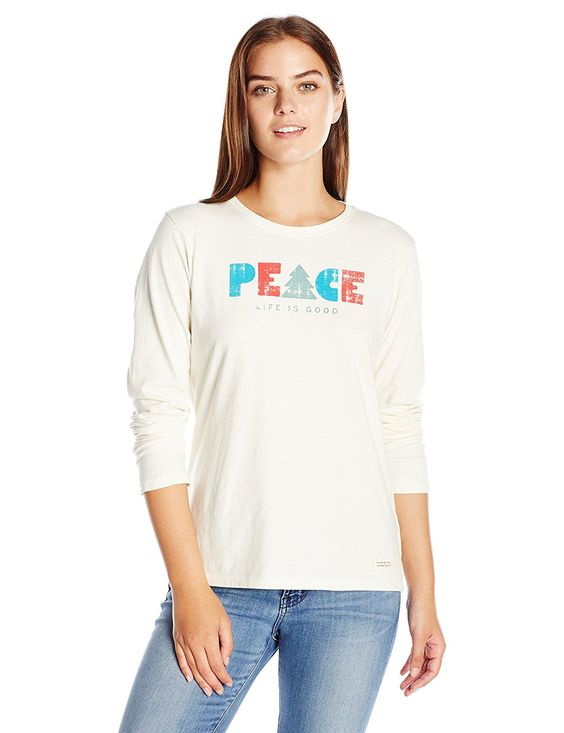 Tree Peace Long Sleeve Crusher Shirt