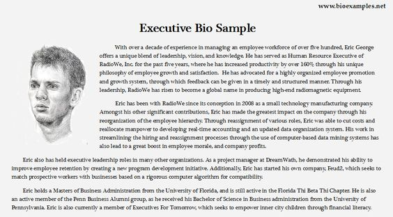 Student Biography Example Bio Examples Pinterest Students - biography example