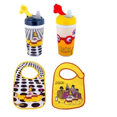 Beatles Yellow Submarine Bib And Sippy Cups 2 Styles Fab Four Baby Accessories Yellow Submarine Yellow Submarine Album The Beatles