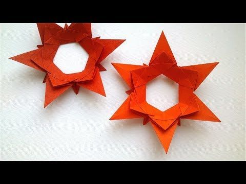 How to make paper bag star    Christmas decoration idea    paper ...   360x480