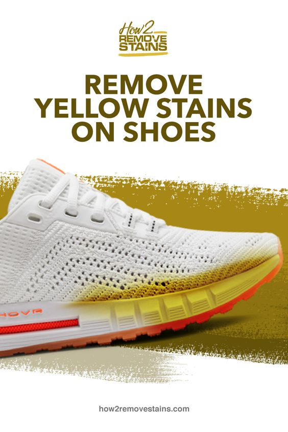 yellow bleach stains on white shoes