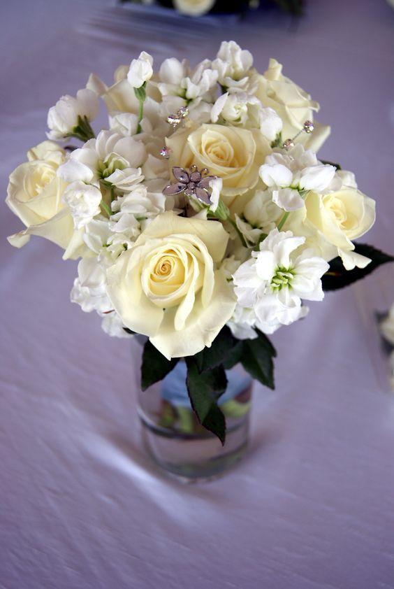 White bouquet.