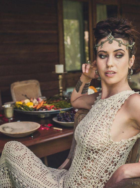Handarbeit häkeln Hochzeitskleid LUNA MENGUANTE von IsaCatepillan