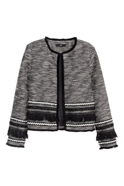 Casaco curto com franjas | H&M