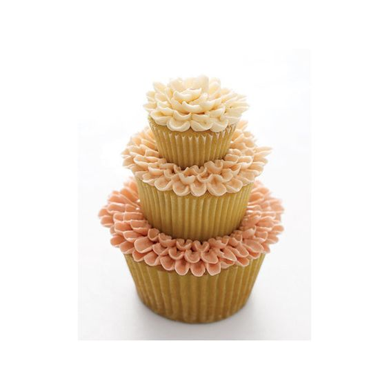 Cupcakes ❤ liked on Polyvore featuring home, kitchen & dining, food, cupcake, sweets, cakes and wedding