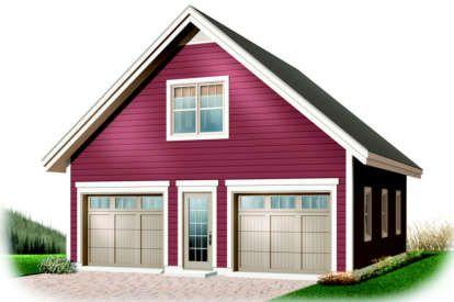 House Plan 035 00762 484 Square Feet 1 Bathroom Garage Plans Detached Garage Plans With Loft Garage Apartment Plans