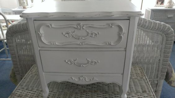 White French Provincial Shabby Chic by Youniqueattictreaure,