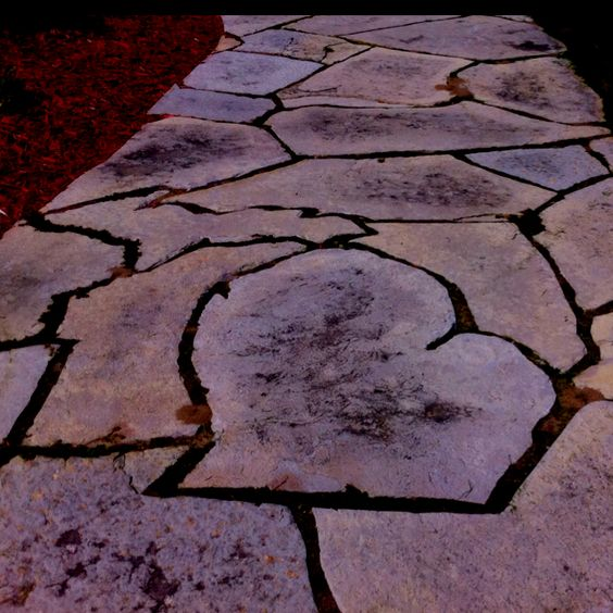 Awesome stone walking path... Would be great for all of the states you have lived in.
