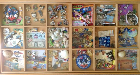 Our disney table in the living room, the kids can look and enjoy all the Nik-knacks but not touch : )