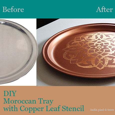 DIY: Stencil a Plain Tray to Make an Exotic Moroccan Tray
