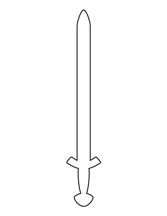 Sword Outline Viking sword pattern. use the printable outline for ...