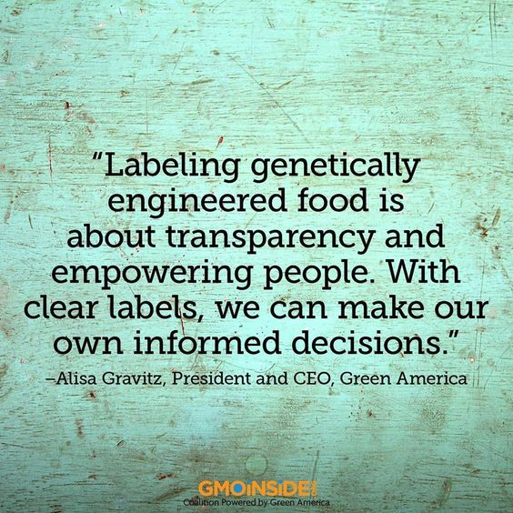 Share if you agree!  #gmos #food #ag #righttoknow #labelgmos