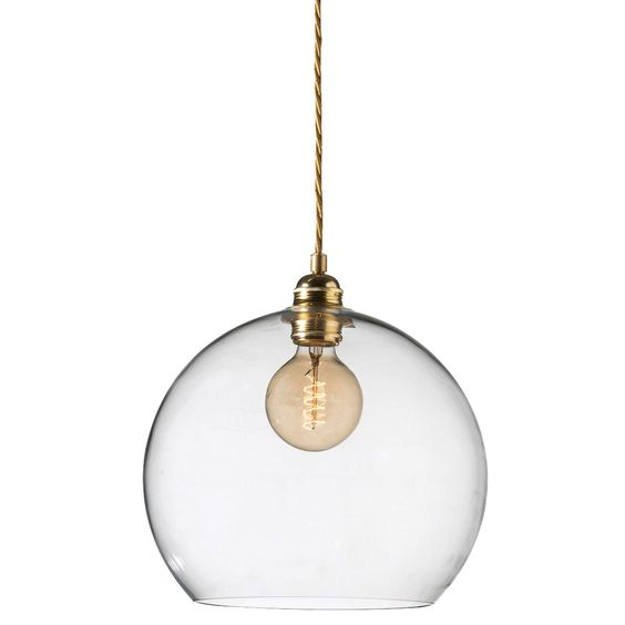 Rowan pendel l, klar/messing i gruppen belysning / lamper ...