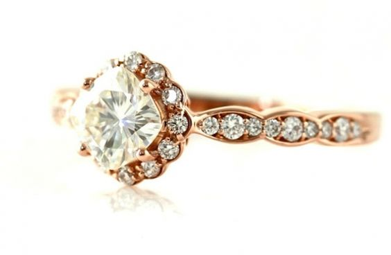 25 Heavenly Halo Engagement Rings | OneWed