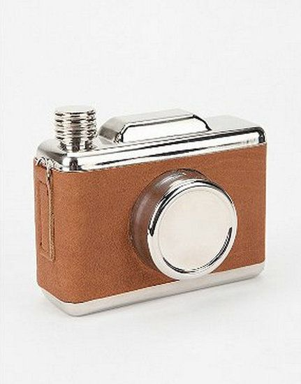So cute! Perfect for a summer getaway. Snapshots Camera Flask ($24)