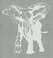 Free Filet Crochet Elephant Pattern : elephant filet crochet pattern filet crochet patterns ...