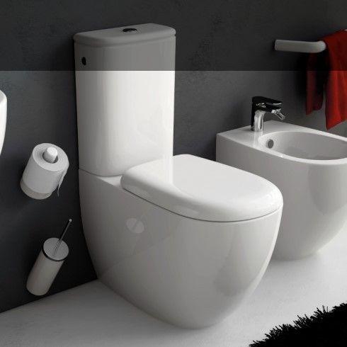 Art Ceram | Serie File | bodenstehendes WC mit Spülkasten | Accessoirs Postit