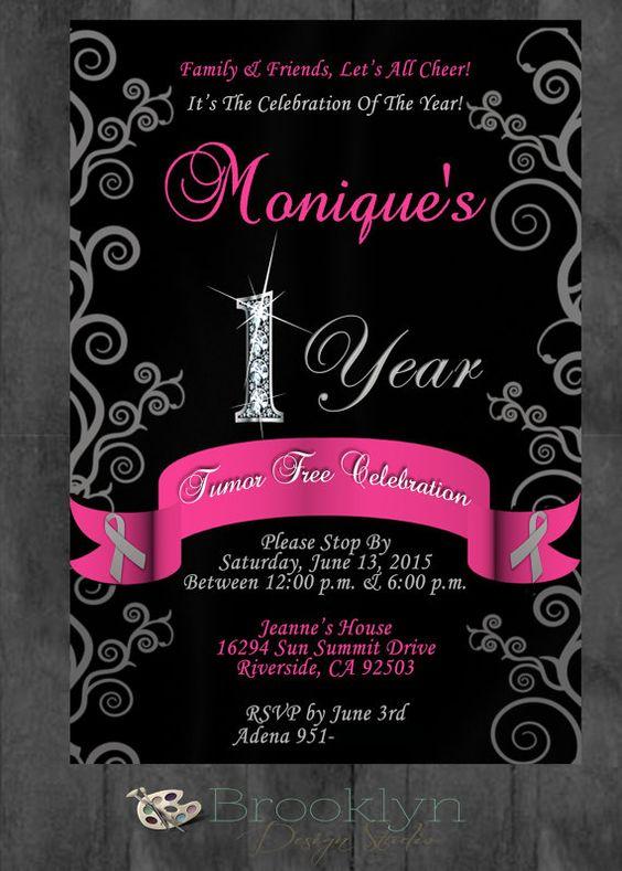 Cancer Free Celebration Party Invitation  by BrooklynDesignStudio