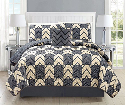 Fancy Collection 3pc King California King Oversize Bedspread Coverlet Set Embossed Solid Dark Gray Charcoal New Bed Spreads King Comforter Sets King Size Quilt