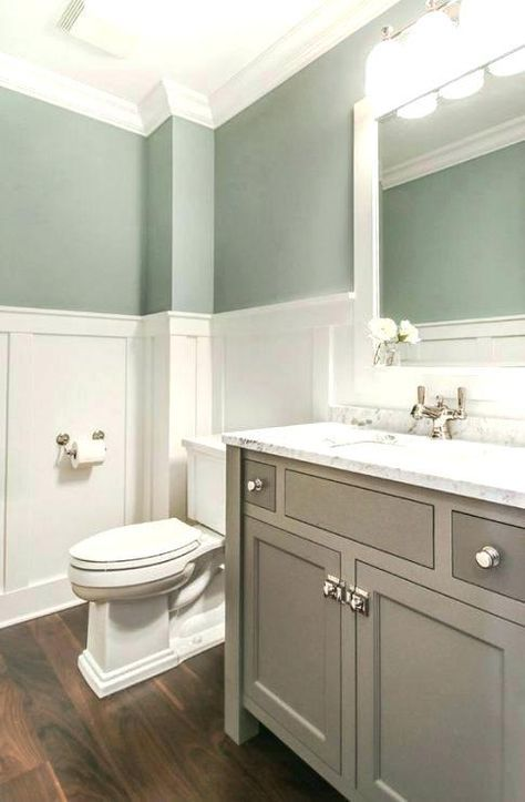 Best Bathroom Colors Small Wainscoting